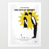 No500 My (500) Days Of Summer minimal movie poster Art Print
