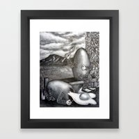 Bad Egg Framed Art Print