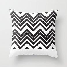 Black Chevron Throw Pillow