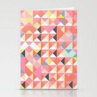 Geo Coral Stationery Cards