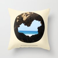 The Heart Enters Paradis… Throw Pillow