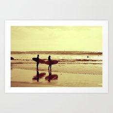 Winter surf Art Print
