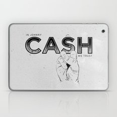 In Johnny Cash We Trust. Laptop & iPad Skin