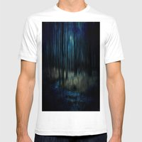 Forest Stream Mens Fitted Tee White SMALL