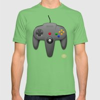 Nintendo 64 Mens Fitted Tee Grass SMALL