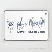 I Love Elton V2 Laptop & iPad Skin