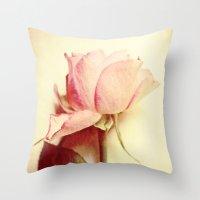 Vintage Rose Throw Pillow