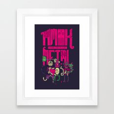 Amok And Totally Metal Framed Art Print