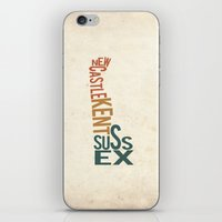 Delaware by County iPhone & iPod Skin