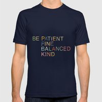 Skinny Love Quote Mens Fitted Tee Navy SMALL