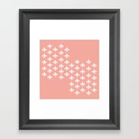 Peachy Infinity Framed Art Print