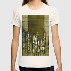 Figurative Surrealism Fantasy Womens Fitted Tee Natural SMALL