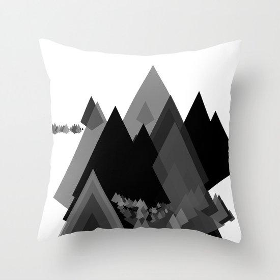 Mountains Inside Throw Pillow