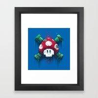 Mushroom Skull Framed Art Print