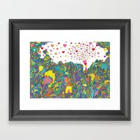ハートのしゃぼん… Framed Art Print