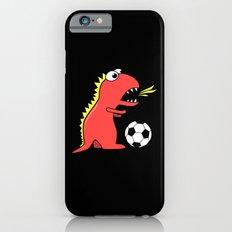 Black Cartoon Dinosaur Soccer Slim Case iPhone 6s