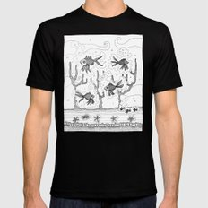 Underwater SMALL Mens Fitted Tee Black
