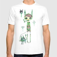 Punk Gree Mens Fitted Tee White SMALL