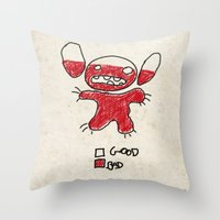 Stitch good&bad meter.... Throw Pillow