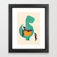 T-Rex And His Basketful … Framed Art Print