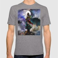 Witchers Dream Mens Fitted Tee Tri-Grey SMALL