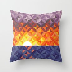 Kaleidoscope Sunset Throw Pillow