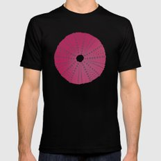 Sea's Design - Urchin Skeleton (Deep Pink) Mens Fitted Tee Black SMALL
