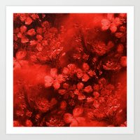 Just Red Flowers Art Print