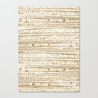 Canvas Print featuring XO Tribal Pattern Gold C… by Crystal ★ Walen