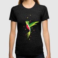 Hummingbird 2 Womens Fitted Tee Tri-Black SMALL