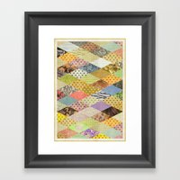 RHOMB SOUP / PATTERN SER… Framed Art Print