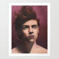 Painted Harry Art Print