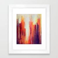 Summer Sunshowers Framed Art Print