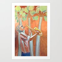 Saxofonist Art Print