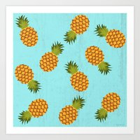 hawaii Art Prints featuring Hawaii by Kakel