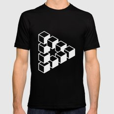 Optical Illusion Mens Fitted Tee Black SMALL