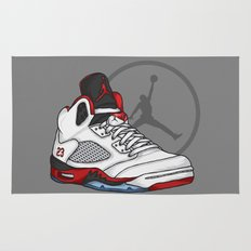 Jordan 5 (Fire Reds) Rug