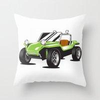 VW Dune Buggy Throw Pillow