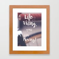 Einstein Quote on life motivation, balance, moving on, going on, inspiration Framed Art Print