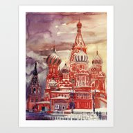 Art Print featuring Moscow by Takmaj