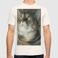 Kitty Cat Mens Fitted Tee Natural SMALL