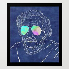 Albert wears his sunglasses at night Art Print