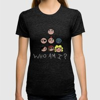 Who Am I? Womens Fitted Tee Tri-Black SMALL
