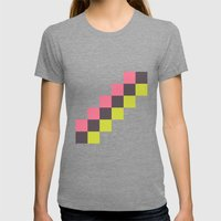 Stairs Of Squares Womens Fitted Tee Tri-Grey SMALL