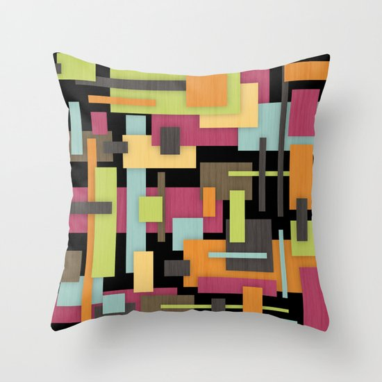 Retrotopia Throw Pillow