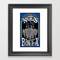 The Angels Have The Phonebox! | Dr. Who Framed Art Print
