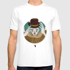 Pierrot...Pierrette White SMALL Mens Fitted Tee