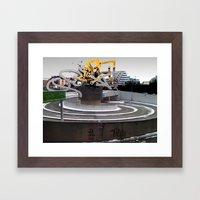 3D GRAFFITI - QBIX Framed Art Print