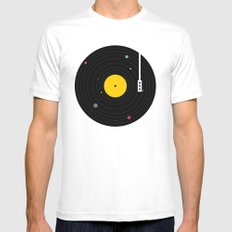 Music, Everywhere White Mens Fitted Tee SMALL