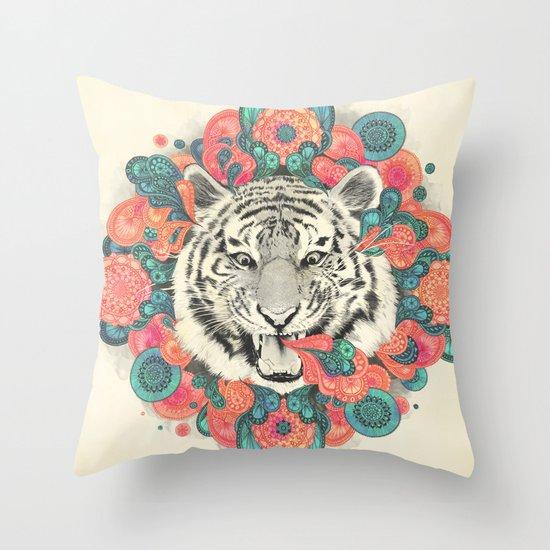 bengal mandala Throw Pillow